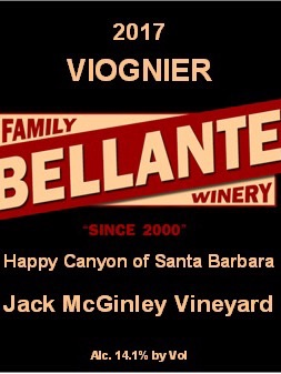 Bellante Family Winery - Viognier - Jack McGinley Vineyard - 2017