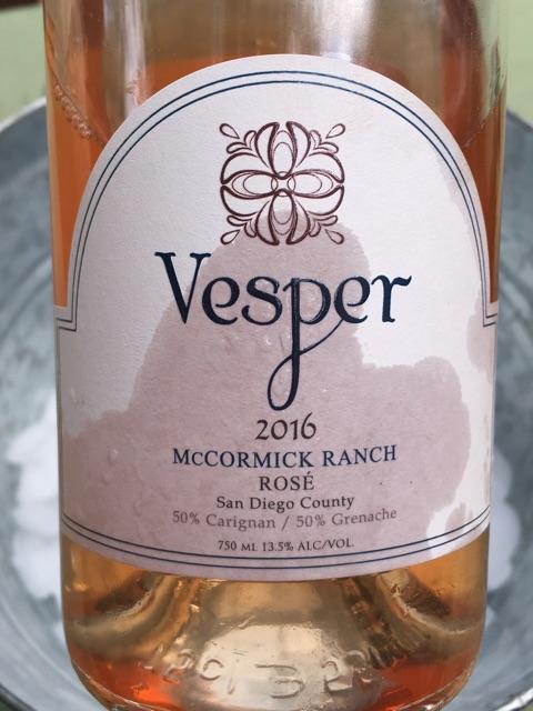 Vesper  - McCormick Ranch Rosé - 2016