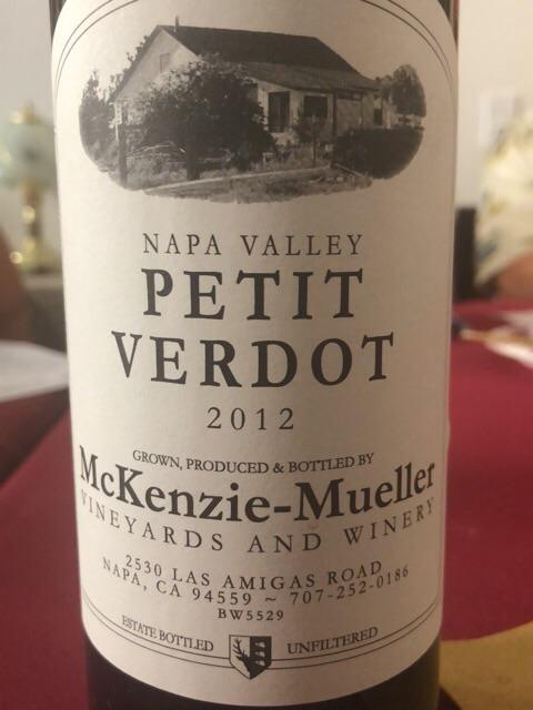 McKenzie-Mueller - Napa Valley Petit Verdot - 2012