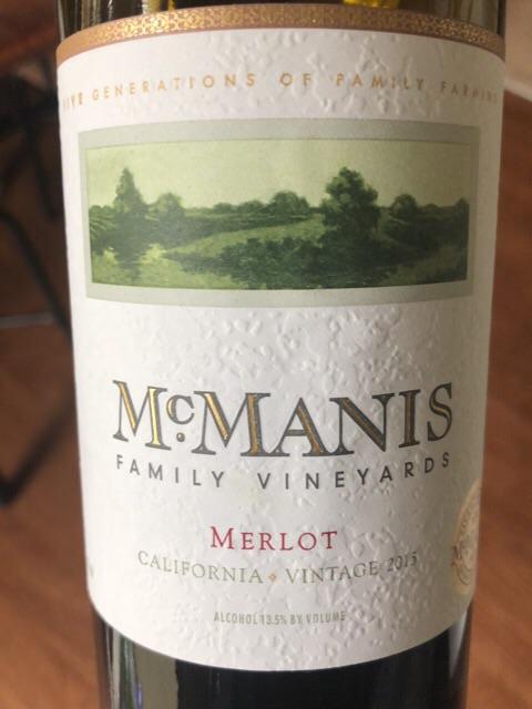 McManis - Merlot - 2015