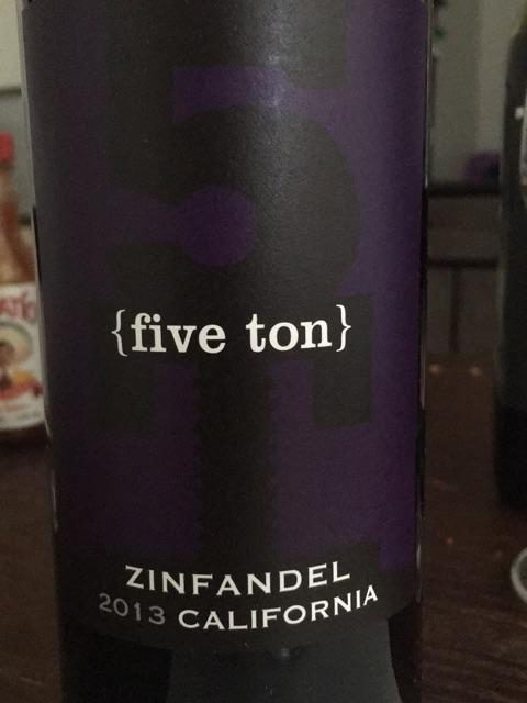 Five Ton - Zinfandel - 2013