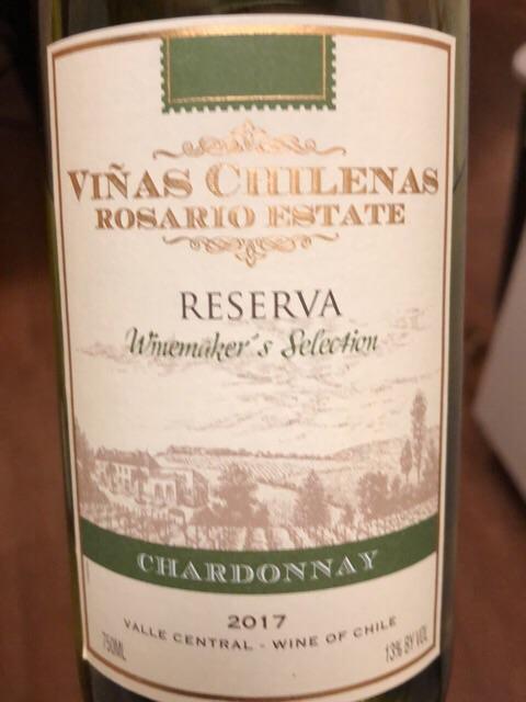 Viñas Chilenas - Rosario Estate Winemaker's Selection Reserva Chardonnay - 2017