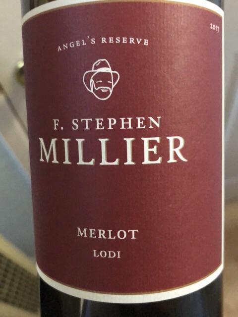 F. Stephen Millier - Angel's Reserve Merlot - 2017
