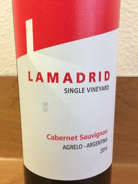 Lamadrid - Cabernet Sauvignon Single Vineyard - 2011