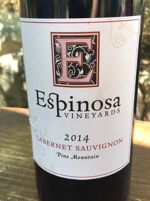 Espinosa Vineyards - Cabernet Sauvignon - 2014