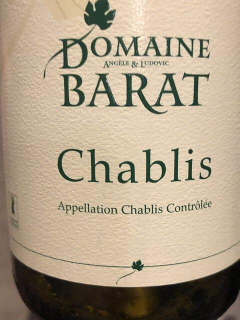 Domaine Barat - Chablis - 2015