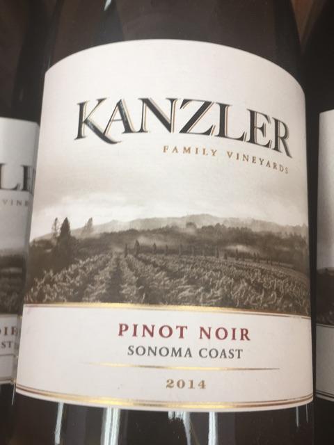 Kanzler Vineyards - Pinot Noir - 2014