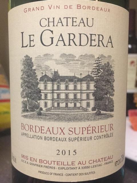 Gonfrier Freres - Château Le Gardera Bordeaux Supèrieur - 2015