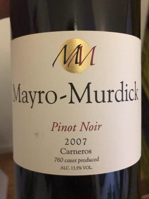 Mayro-Murdick - Pinot Noir - 2007