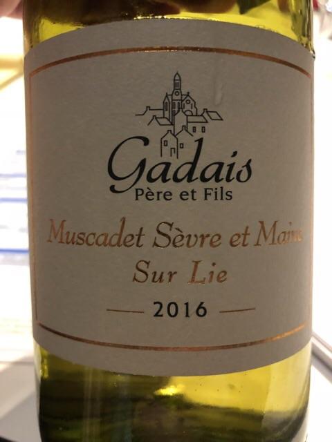 Gadais Pere & Fils - Domaine de La Tourmaline Muscadet de Sèvre et Maine Sur Lie  - 2016