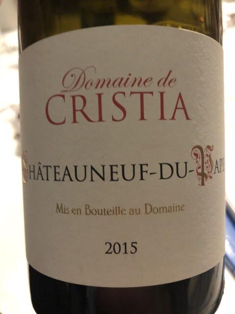 Domaine de Cristia - Châteauneuf-du-Pape Rouge - 2015
