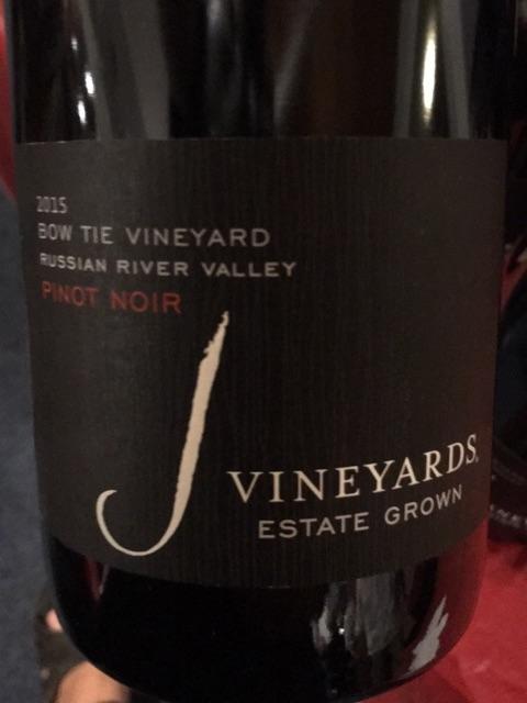 J Vineyards - Bow Tie Vineyard Pinot Noir - 2015