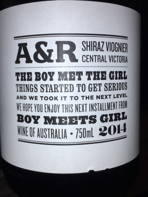 Boy Meets Girl - A&R Reserve Shiraz Viognier - 2014