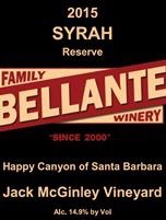 Bellante Family Winery - Jack McGinley Vineyard Reserve Syrah - 2015