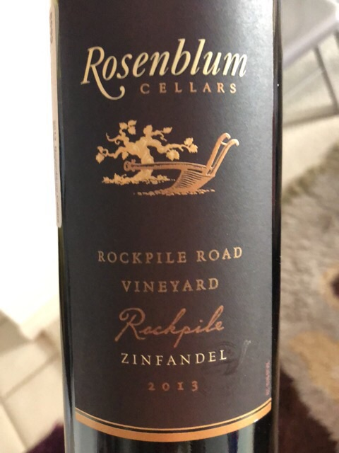 Rosenblum Cellars - Rockpile Road Vineyard Zinfandel - 2013