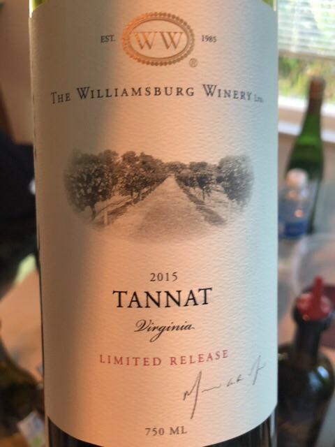 The Williamsburg Winery - Tannat Limited Release - 2015