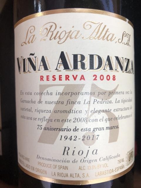 La Rioja Alta - Viña Ardanza Reserva - 2008