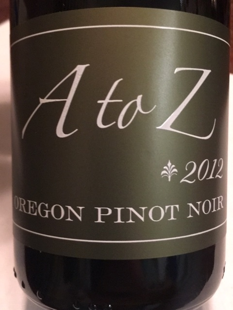A to Z Wineworks - Pinot Noir - 2012