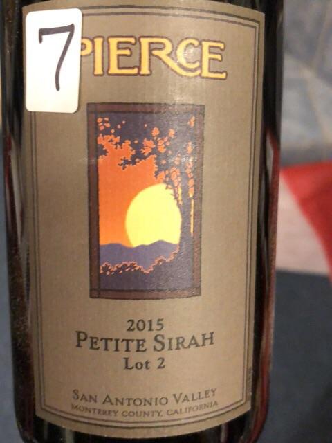 Pierce - Petite Sirah Lot 2 - 2015