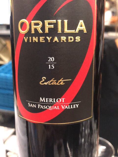 Orfila Vineyards - Estate Merlot - 2015