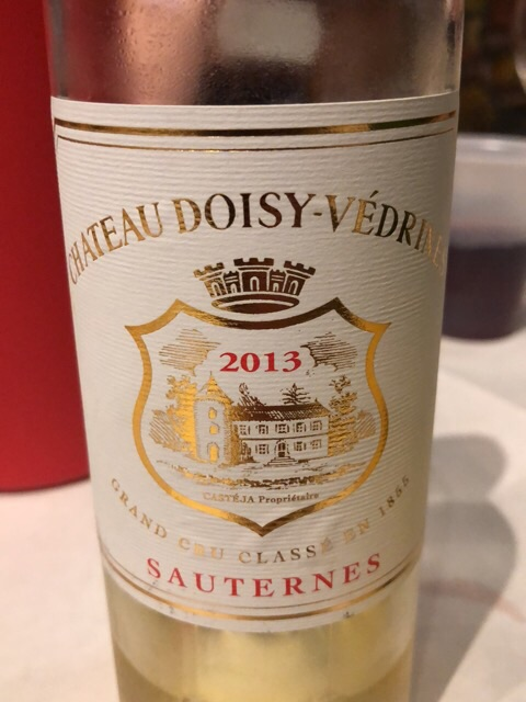 Château Doisy-Vedrines - Sauternes Grand Cru Classé  - 2013