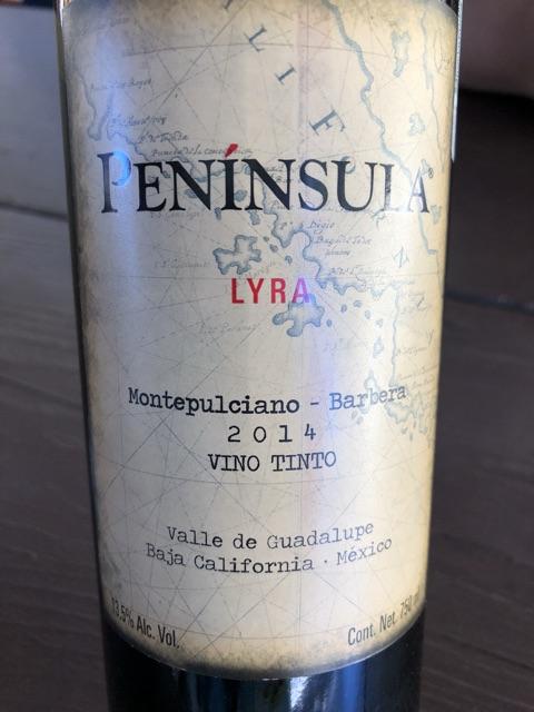 Peninsula - Lyra Montepulciano - Barbera - 2014