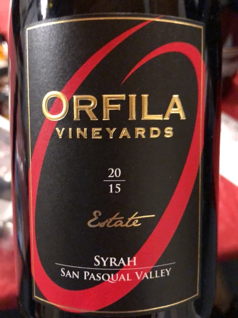 Orfila Vineyards - San Pasqual Valley Vineyards Syrah - 2015