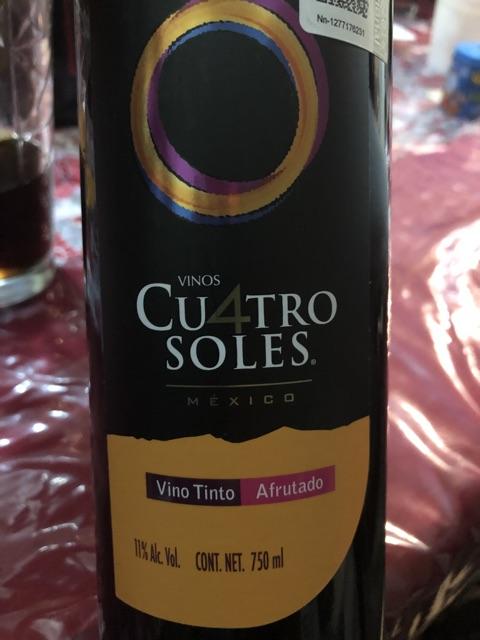 Cu4tro Soles - Afrutado Tinto - 2015