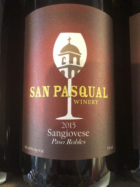 San Pasqual Winery - Sangiovese - 2015