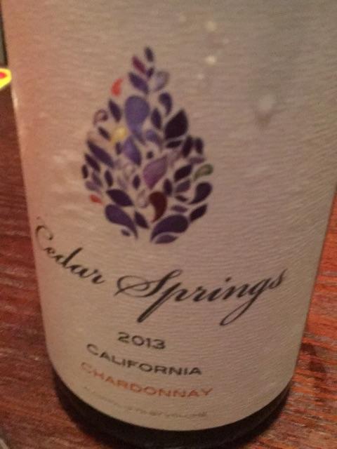 Cedar Sparings - California Chardonnay - 2013