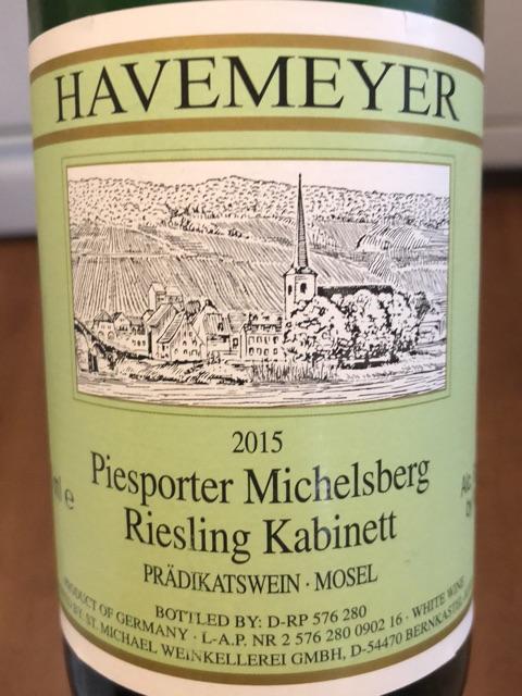 Havemeyer - Piesporter Michelsberg Riesling Kabinett - 2015