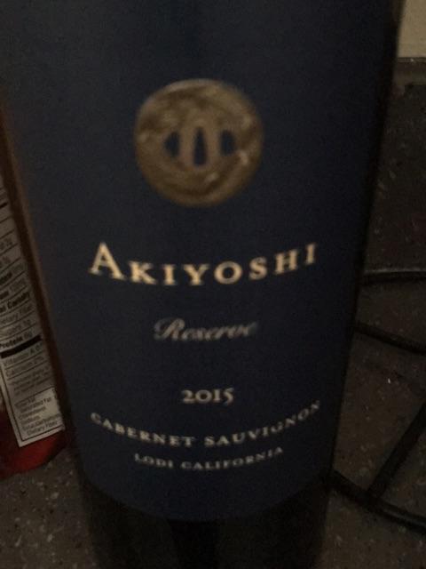 Akiyoshi - Cabernet Sauvignon Reserve - 2015