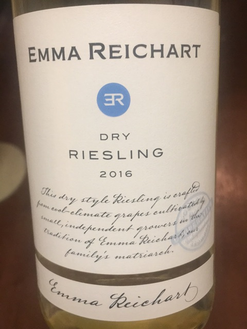 Emma Reichart - Riesling Dry - 2016