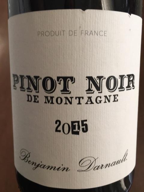 Benjamin Darnault - Pinot Noir de Montagne - 2015