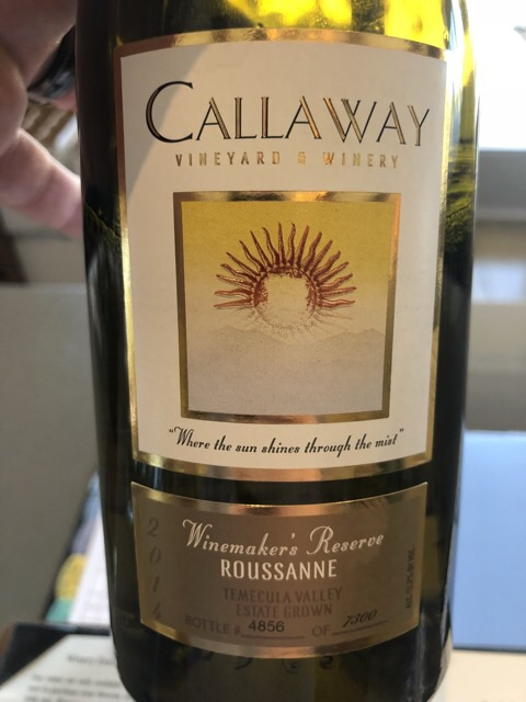 Callaway - Winemaker's Reserve Roussanne - 2014