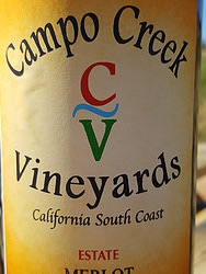 Campo Creek Vineyards - Estate Merlot - 2016