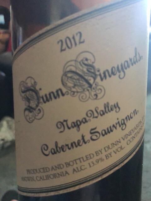 Dunn - Cabernet Sauvignon - 2012