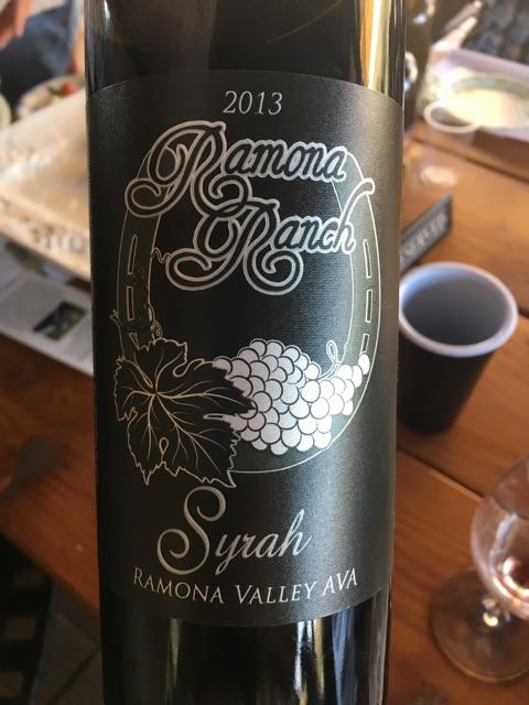 Ramona Ranch - California Syrah - 2013