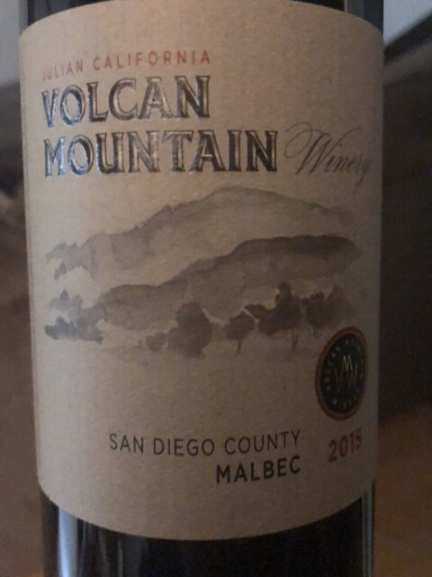 Volcan Mountain Winery - Malbec - 2015