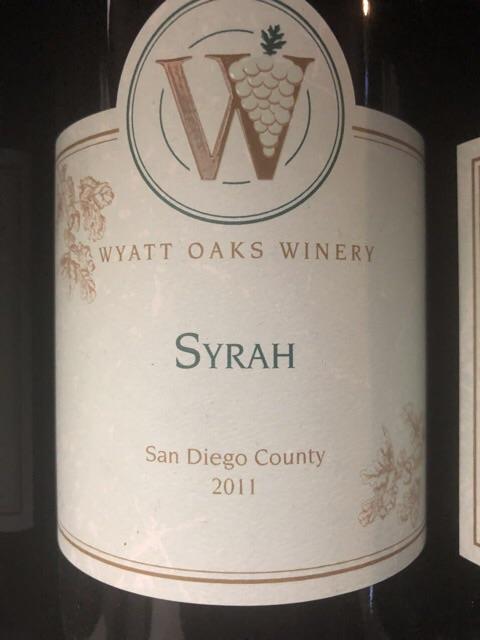 Wyatt Oaks Winery - Syrah - 2011