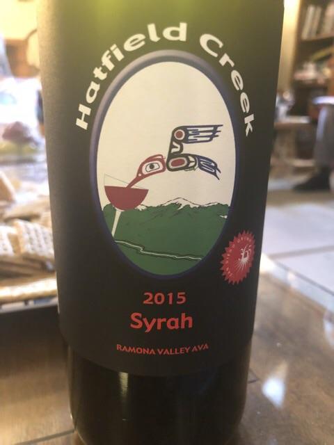 Hatfield Creek Vineyards - Syrah - 2015