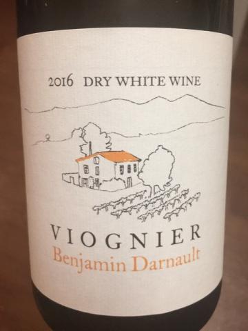 Benjamin Darnault - Viognier Dry - 2016