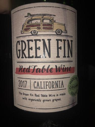 Green Fin Winery - California Red - 2017