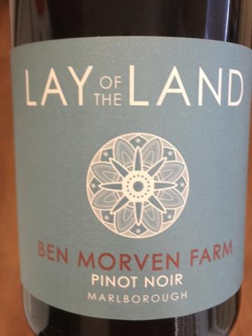 Lay of the Land - Ben Morven Farm Pinot Noir - 2015