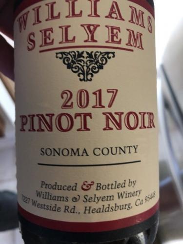 Williams Selyem - Sonoma County Pinot Noir - 2017