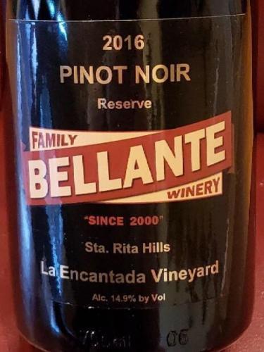 Bellante Family Winery - La Encantada Vineyard Reserve Pinot Noir - 2016