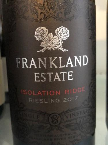 Frankland Estate - Isolation Ridge Vineyard Riesling - 2017