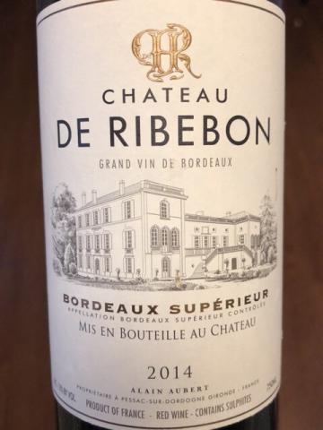 Château de Ribebon - Bordeaux Supérieur - 2014