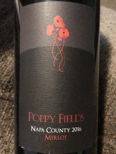 Poppy Fields - Napa County Merlot - 2016