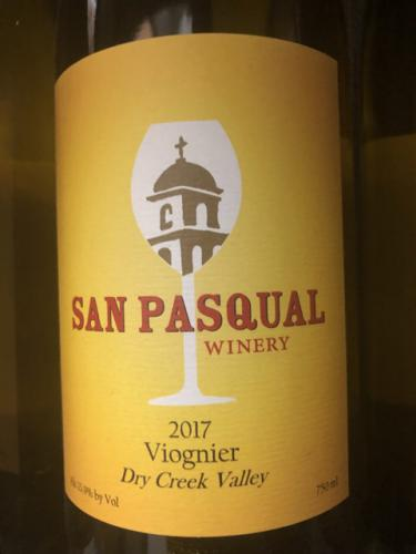 San Pasqual Winery - Viognier - 2017